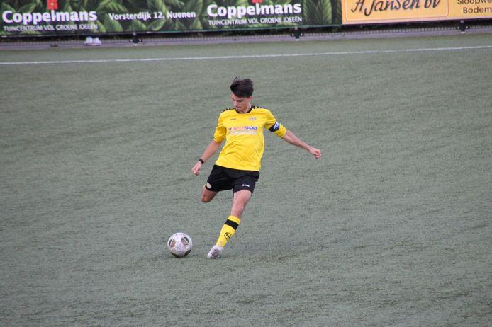 Quinn van Groningen in actie voor UNA.