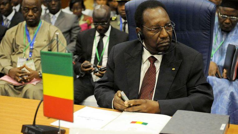 President Diocounda Traore van Mali tijdens de Afrika-top. Beeld afp