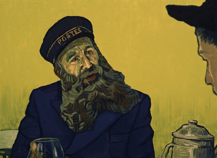 De oude Roulin bespreekt de brief van Vincent met zijn zoon. Beeld
