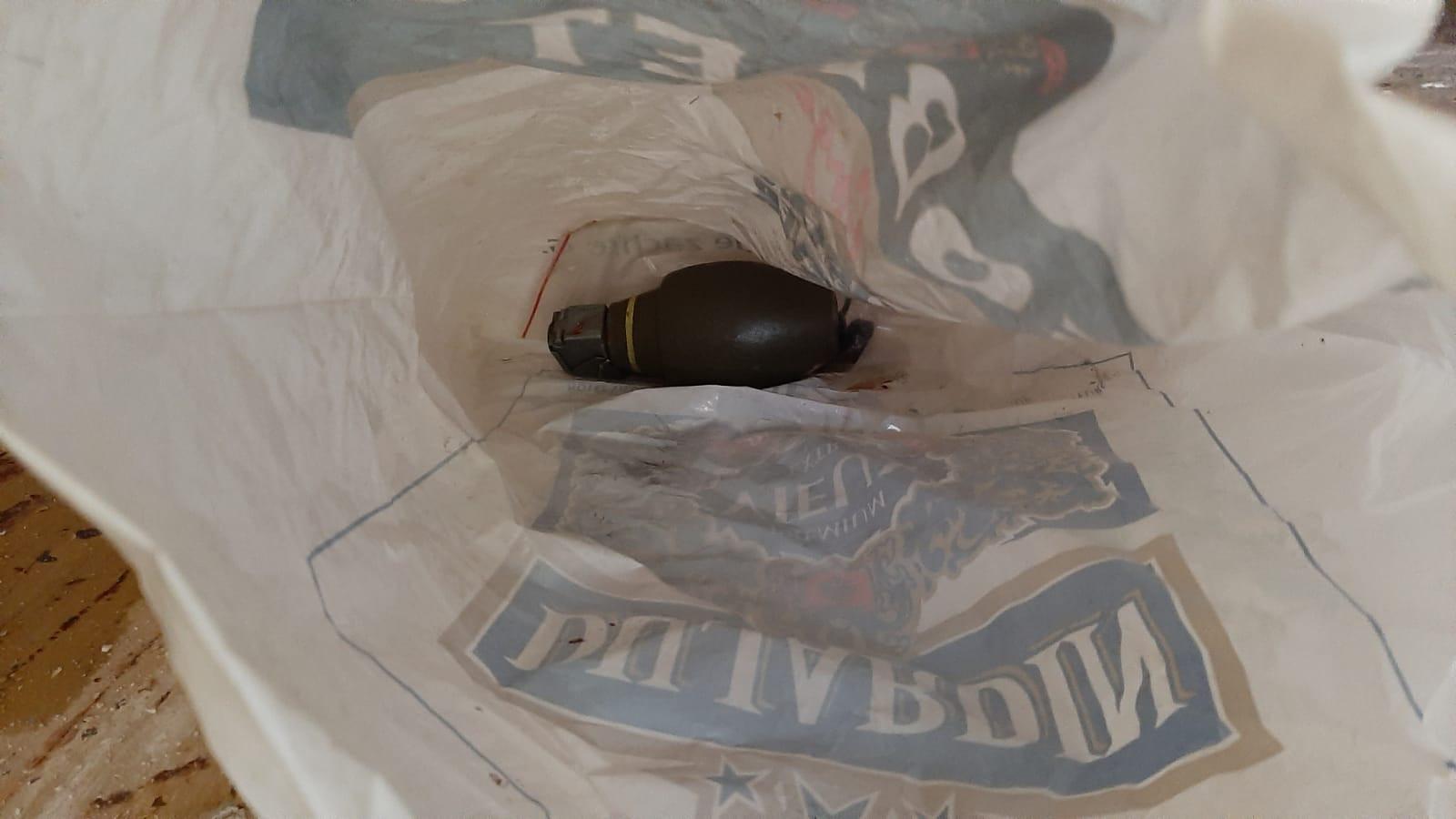 De handgranaat, gevonden in een vriezer in een Roosendaalse woning.