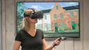 Dankzij virtual reality kun je zowel door als om het huis lopen.