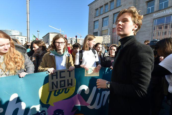 Een klimaatstaking in februari vorig jaar. Archiefbeeld.