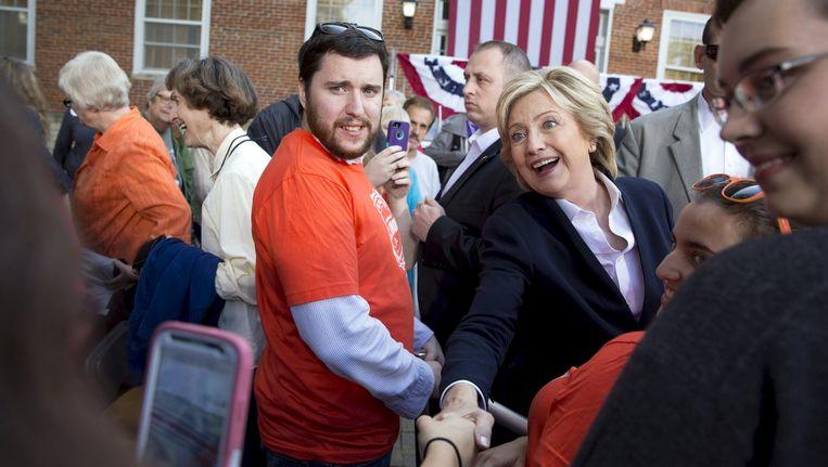 Hillary zet haar beste campagnebeentje voor in Iowa. Beeld REUTERS
