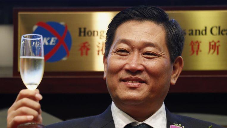 Yang Kai in betere tijden: Het debuut van Huishan op de aandelenbeurs. Beeld reuters