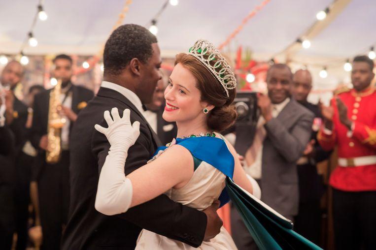 Elizabeth (Claire Foy) in Ghana. Beeld Netflix