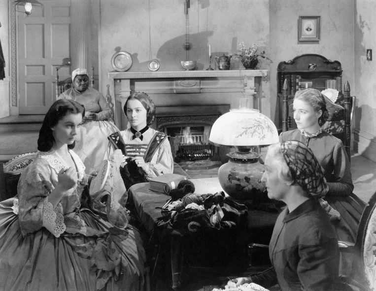 Hattie McDaniel, links bovenaan, was de eerste Afro-Amerikaanse die een Oscar won in 1939. Ze speelde dienstmeid Mammy in Gone with the Wind.  Beeld Mondadori via Getty Images