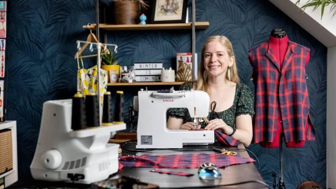Ook Bobbi Eden maakt zelf haar kleding: 'Kwalitatief vaak beter dan wat je koopt'