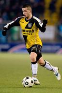 Ömer Bayram als aanvaller in het shirt van NAC.