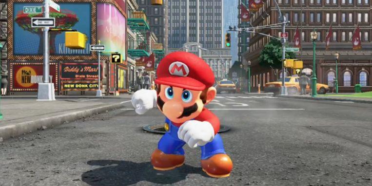 'Super Mario Odyssey', de nieuwe Mariogame die dit najaar verschijnt.  Beeld