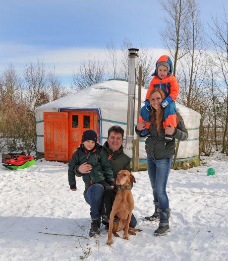 Zelfs bij temperaturen ver onder 0 slaap je in een yurt als een roosje