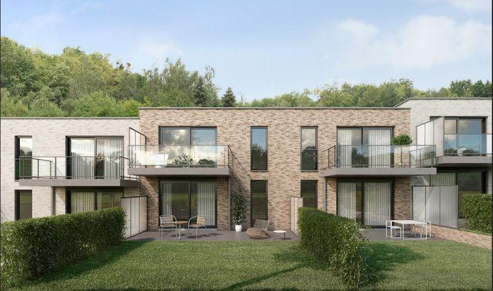 In totaal komen er 27 wooneenheden in de Beaulieuwijk in Machelen.