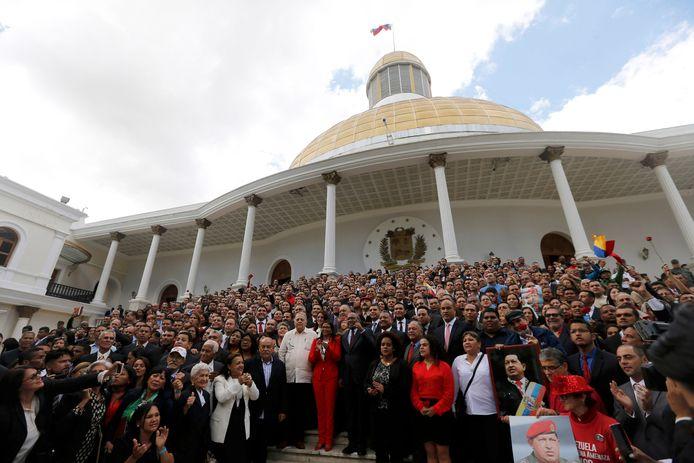 De grondwetgevende vergadering in Caracas, Venezuela.