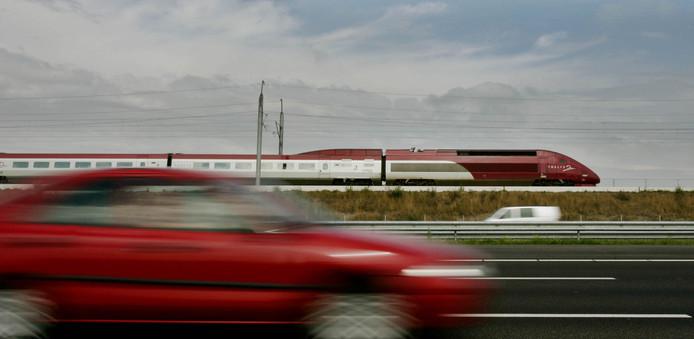 De Thalys op het Nederlandse hogesnelheidsspoor.