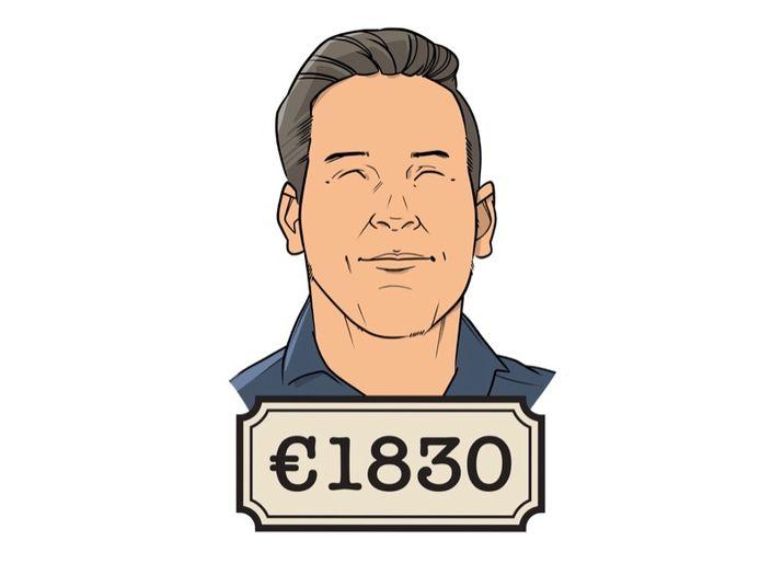 Basisschooldocent Remco (32) werkt 32 uur in de week en verdient daar 1830 euro per maand mee.