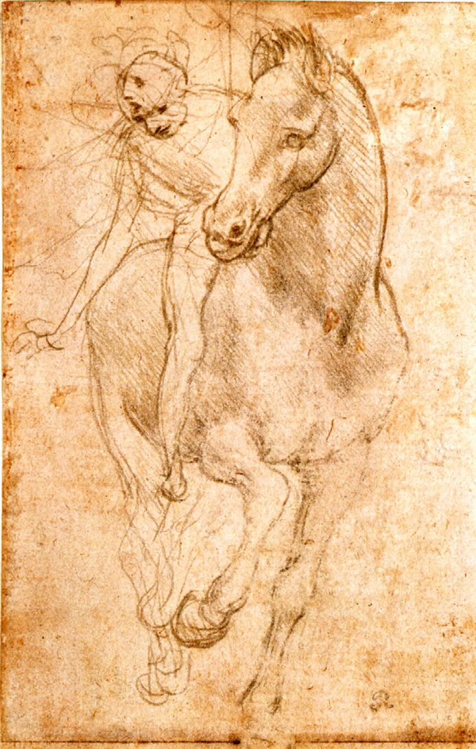 """Paard en Rijder"" van Leonardo da Vinci."