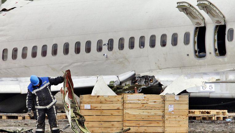 Archieffoto van de berging van het neergestortte toestel van Turkish Airlines. Foto ANP Beeld