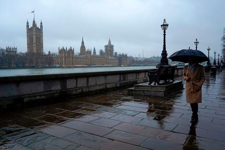 Lockdown in Londen om het Britse virus, januari 2021. Beeld AFP