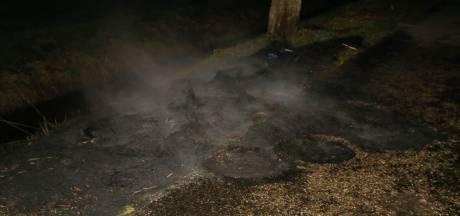 Opnieuw bandenbrand in omgeving Waardenburg