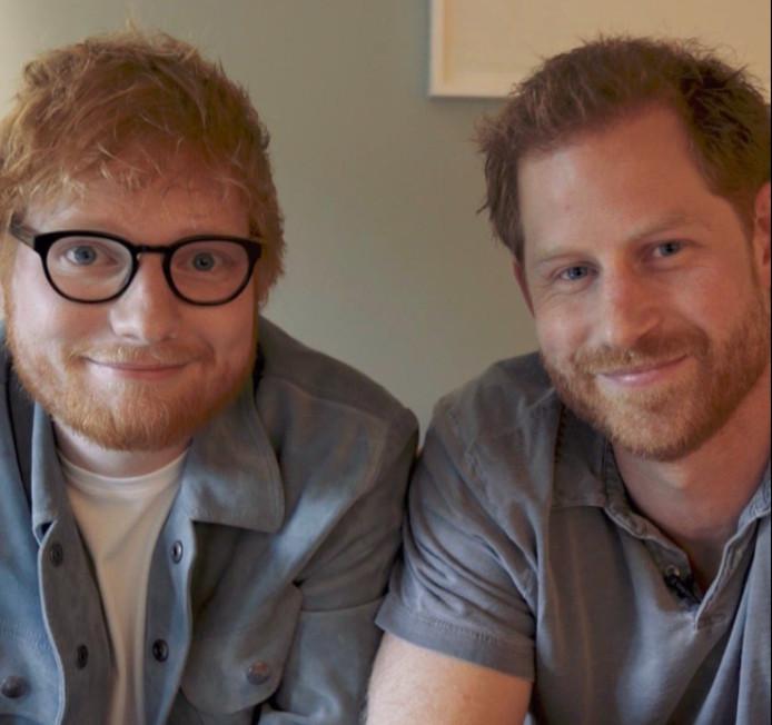 Ed Sheeran en prins Harry.
