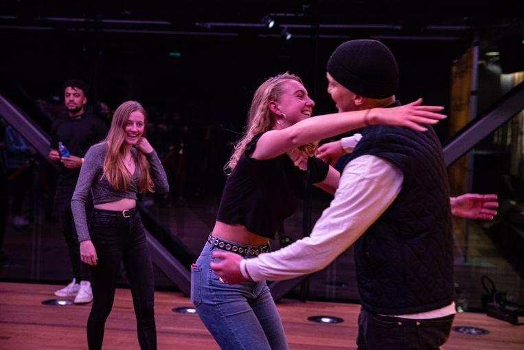 Fans van de Nederlandse rapper Snelle tijdens de meet & greet op het We Are The Future Festival. Beeld ANP