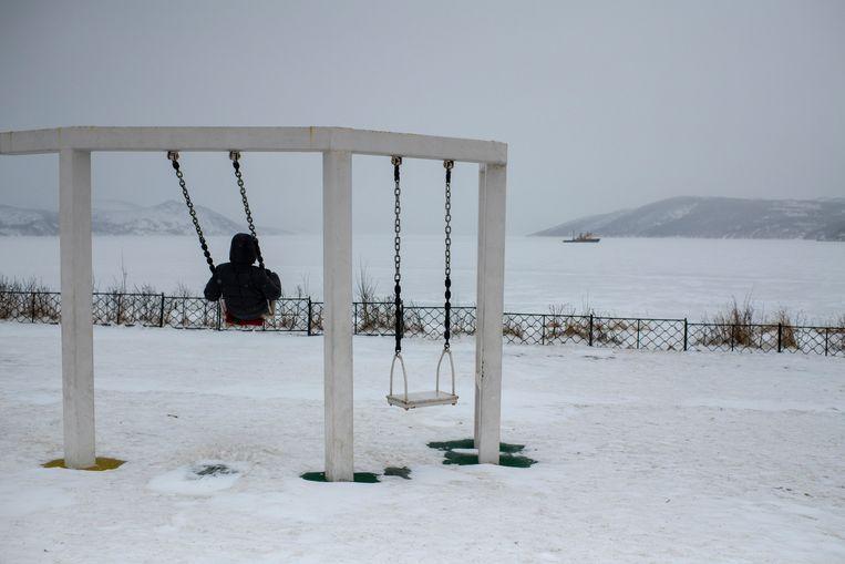 In Magadan daalt de temperatuur makkelijk tot 25 graden onder nul. Dat is mild naar lokale maatstaven. In de Sovjettijd, voordat de klimaatverandering, vroor het 's winters vaak wel 60 graden.  Beeld Yuri Kozyrev/Noor