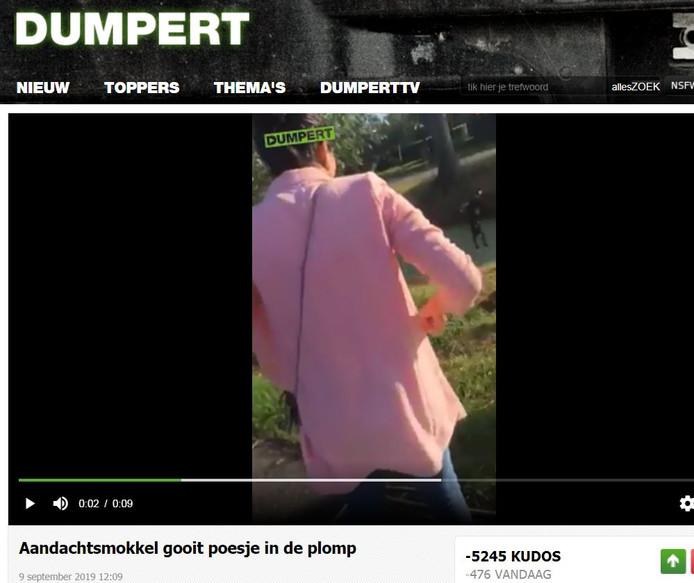 Beeld uit de video op de website Dumpert.