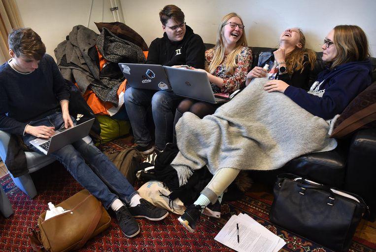 Internationale studenten van de Universiteit Maastricht. Beeld null