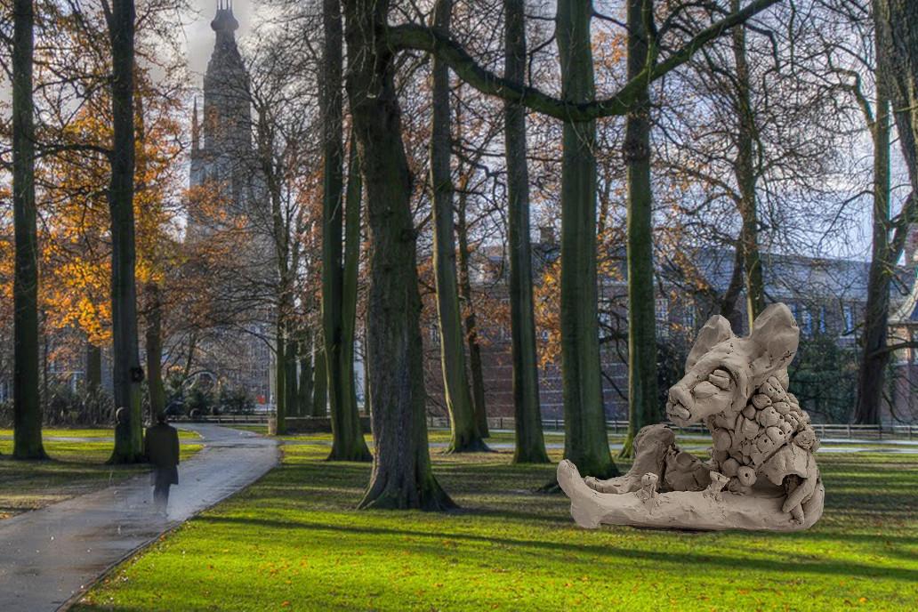 Het ontwerp 'Maisha' van Monica Dahlberg, voor een Artikel 1-monument in Breda.