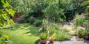 De tuin in volle glorie.
