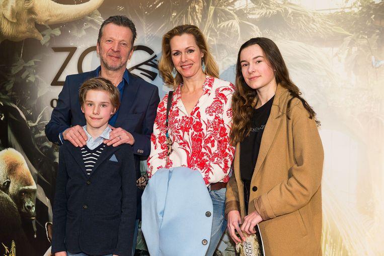 Lucas Van den Eynde met zijn familie