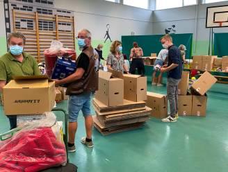 30-tal vrijwilligers in de bres voor slachtoffers watersnood