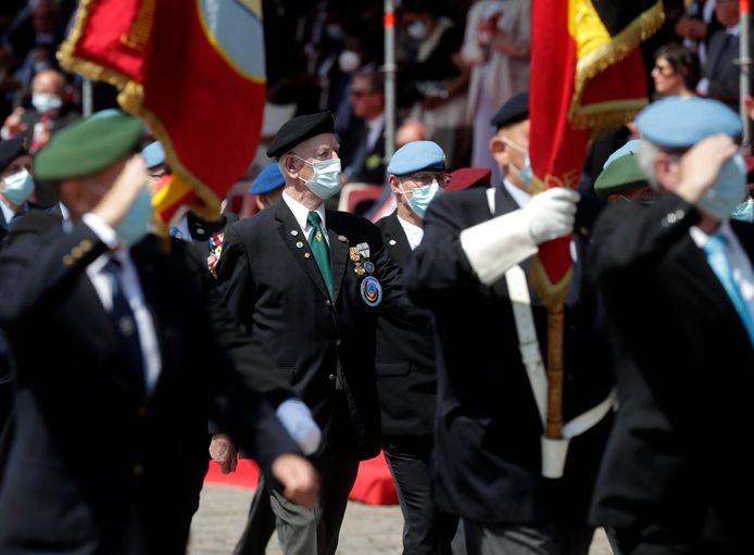 Des anciens combattants ont pris part au défilé, qui célébrait notamment les 70 ans de la guerre de Corée.