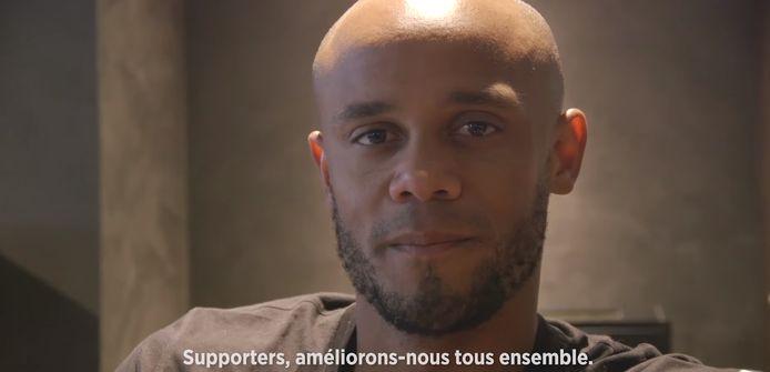 Vincent Kompany a enregistré un message vidéo.
