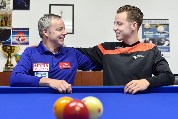 Dick (links) en René Jaspers: 'We kunnen allebei niet tegen ons verlies'