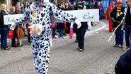 Carnaval in de stralende winterzon