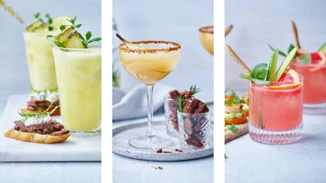 Foodstylist Sonja Peeters maakt 3 verrassende alcoholvrije drankjes mét een hapje waar je Tournée Minérale probleemloos mee doorkomt