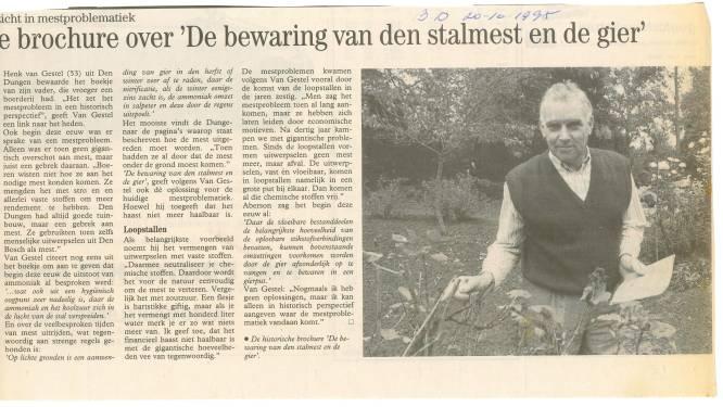 Mijn BD   Henk van Gestel kocht de krant voor 15 cent, die bij De Gruyter door iedereen op het toilet werd gelezen