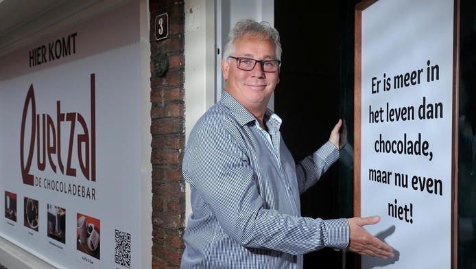 Bob van der Heul heeft het voor elkaar: een eigen chocoladezaak.