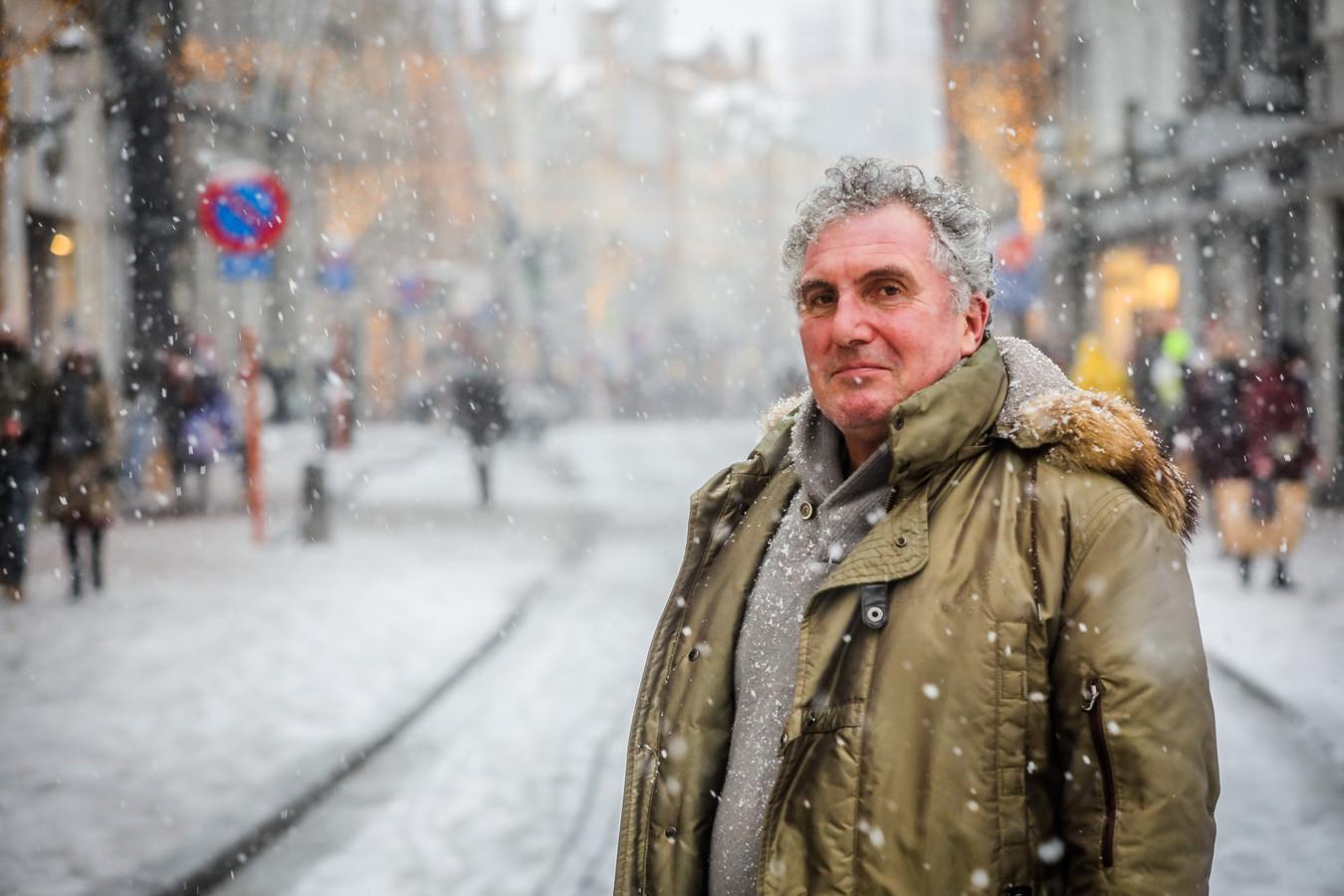 """Piet Vanderyse in de sneeuw in Brugge: """"De nieuwe voorzitter kan het beter uitleggen dan ik."""""""