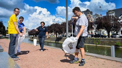 Voorsmaakje van World Clean-Up Day: vrijwilligers JCI ruimen zwerfvuil in stadscentrum