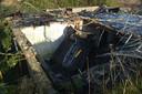 Auto belandt op ruïne van huis