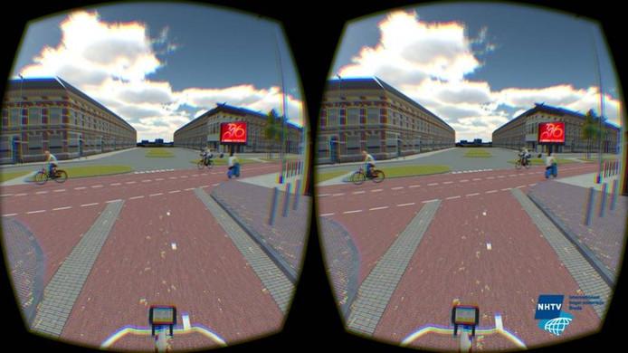 De nieuwe kruising Boschstraat-St. Ignatiusstraat door een virtual reality bril