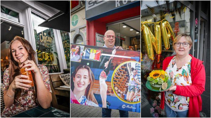 Ook de Truiense ondernemers vieren 'golden girl' Nina, die vandaag gehuldigd zal worden door de stad.
