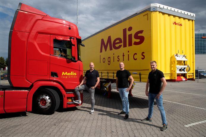 Vincent Koers (links), Nick Broekhuysen (midden)en Marwin Melis (rechts)