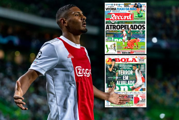 Sébastien Haller en de Portugese voorpagina's.