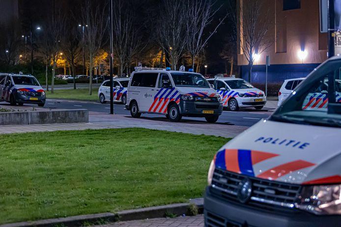 De politie was met ongeveer tien eenheden ter plaatse