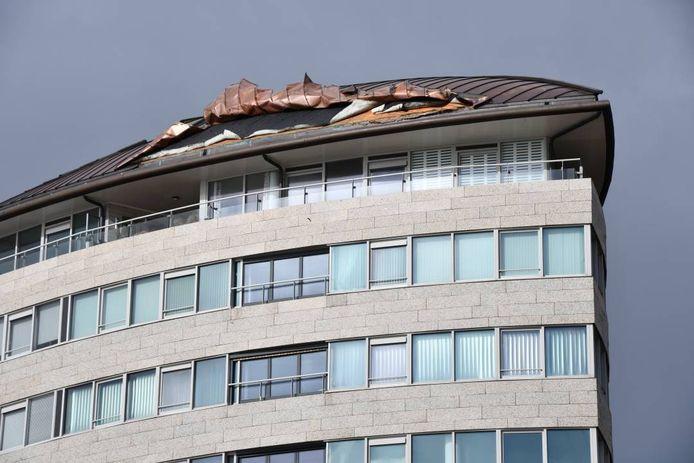 Losliggende dakdelen in Vlissingen.