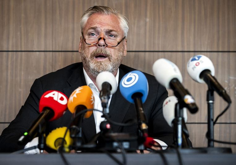 Advocaat Peter Schouten van kroongetuige Nabil B.  Beeld ANP