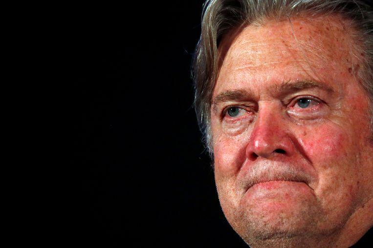 Over alt-right-boegbeeld Steve Bannon: 'Is hij gevaarlijk omdat hij zijn alt-rightideeën online zet en daar aanhang mee probeert te verwerven? Neen. Integendeel, is dat niet de ultieme vorm van democratie?' Beeld REUTERS