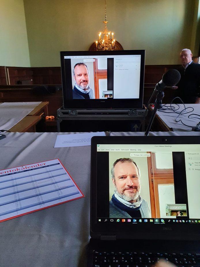 Zaterdag werden de eerste tests voor de online videoconferenties succesvol afgerond.